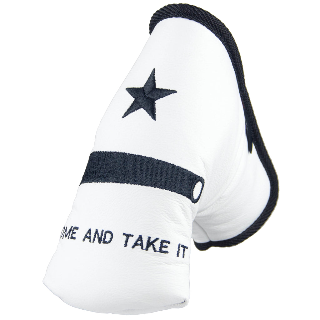 """COME AND TAKE IT"" Premium USA Leather Standard Putter Cover"