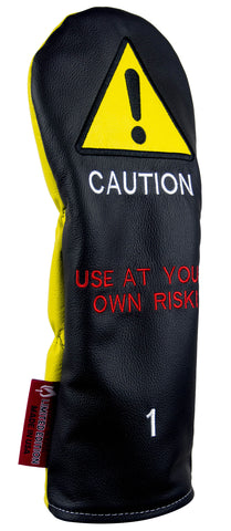 """CAUTION"" LIMITED EDITION Premium USA Leather Headcovers (PRE-ORDER)"