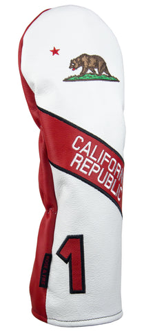 "California ""Bear Flag"" Premium USA Leather Headcovers(PRE-ORDER)"