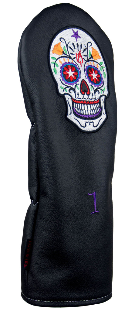 """Candy Skull"" Premium USA Leather Headcovers (PRE-ORDER)"
