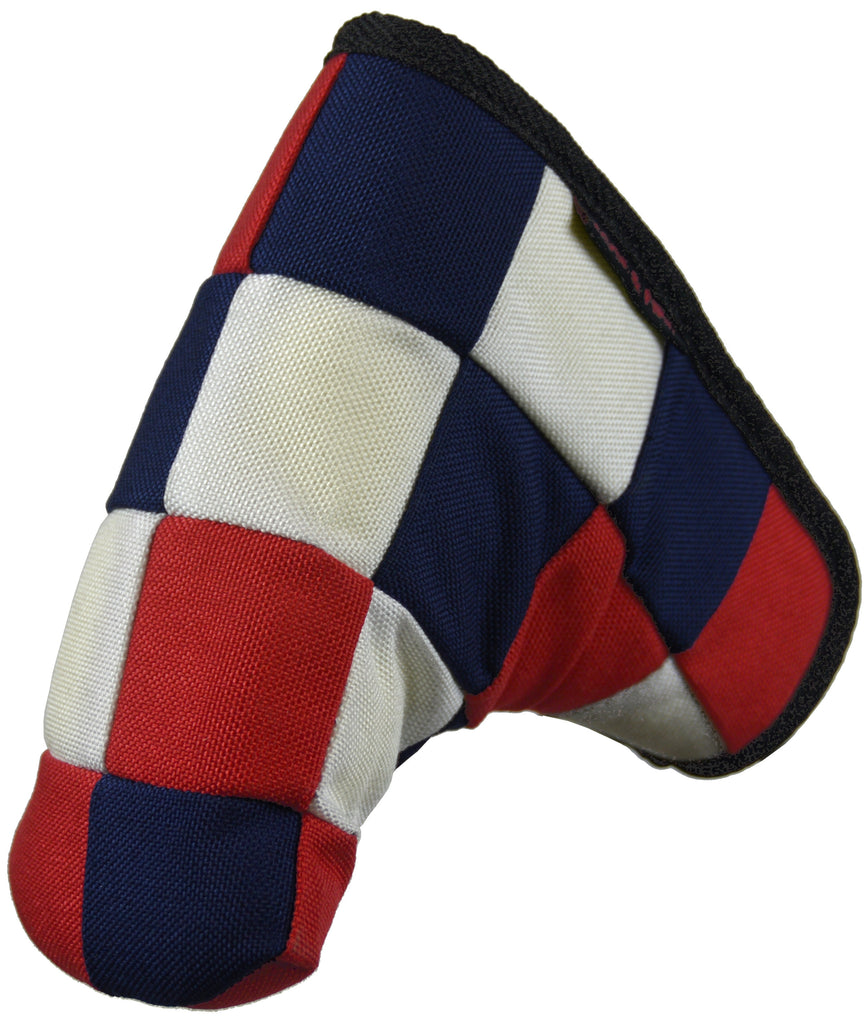 """Checkered"" USA Red, White and Blue Cordura Nylon Canvas Putter Cover ( LIMITED AMOUNT AVAILABLE)"