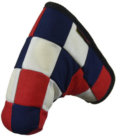 """Checkered"" USA Red, White and Blue Cordura Nylon Canvas Putter Cover ( LIMITED PRE-ORDER)"