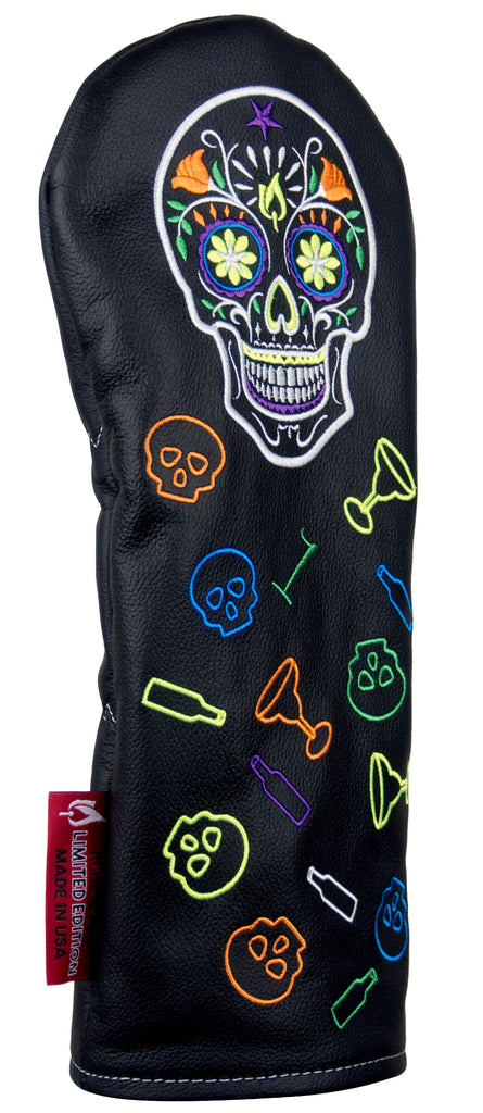 """Cinco de Mayo Skull"" LIMITED EDITION Premium USA Leather Headcovers (PRE-ORDER)"