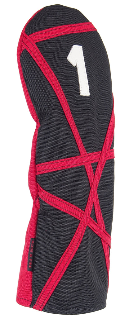 "Black with Red ""Crazy Stripes"" Cordura Headcovers"