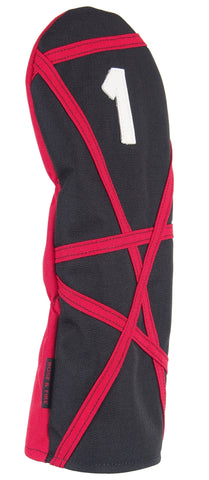"Black with Red ""Crazy Stripes"" Cordura Headcovers(PRE-ORDER)"