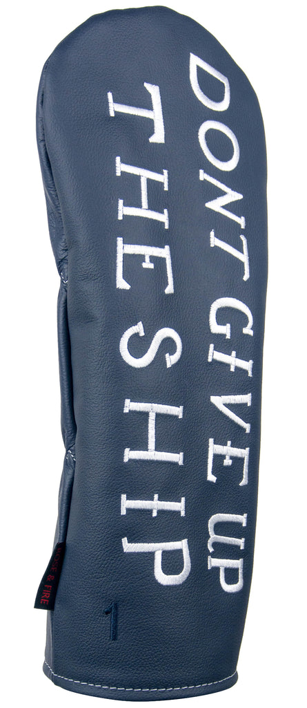 """DONT GIVE UP THE SHIP"" Lawrence Navy Premium Leather Headcovers (PRE-ORDER)"