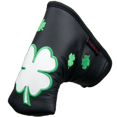 """Dancing Clovers"" Premium USA Leather Standard Putter Cover"