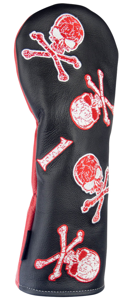 """Dancing Skulls"" Premium USA Leather Headcovers (LIMITED AVAILABILITY)"