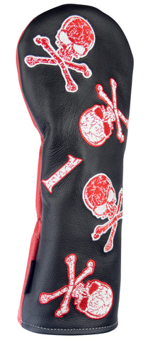 """Dancing Skulls"" Premium USA Leather Headcovers (PRE ORDER)"