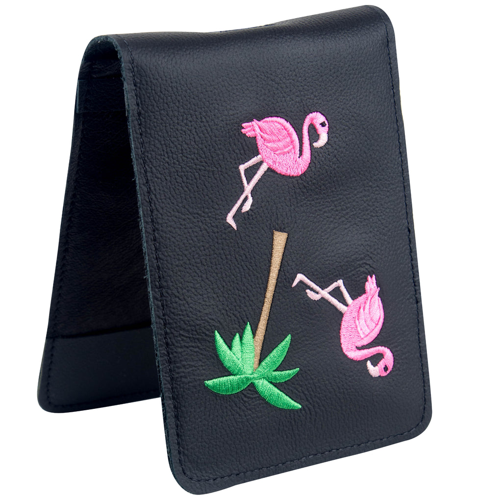"Scorecard Holder ""Flamingo"" Premium Leather"