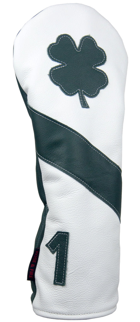 """Lucky Clover"" Green and White Premium USA Leather Headcovers (PRE-ORDER)"