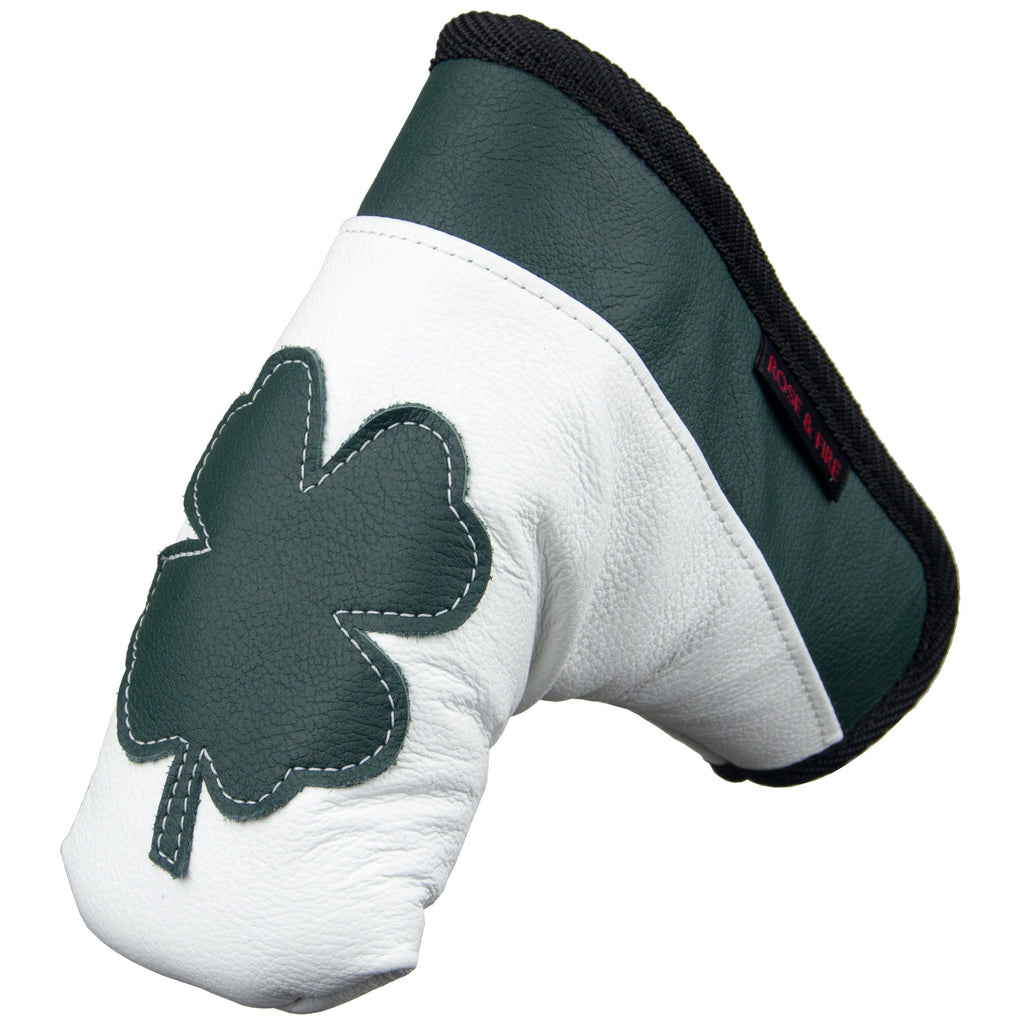"""Lucky Clover"" Premium USA Leather Standard Putter Cover"