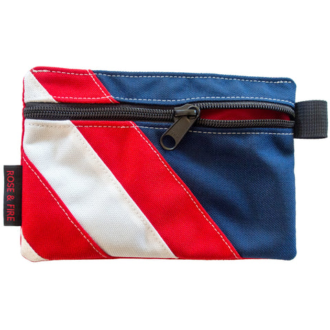 "Red, White and Blue ""Freedom"" USA Zippered Valuables Pouch"