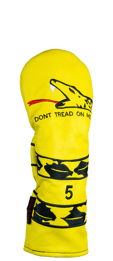dont tread on me premium usa leather headcovers pre order rose