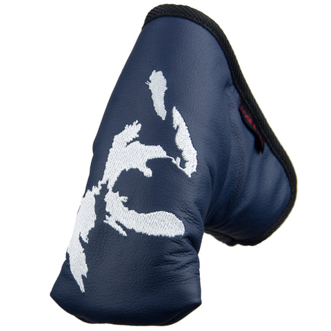 """Great Lakes"" Premium USA Leather Standard Putter Cover"