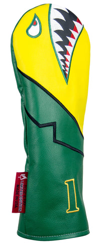 """Green Jacket Bomber/Warhawk"" LIMITED EDITION Premium USA Leather Headcovers (PRE-ORDER)"