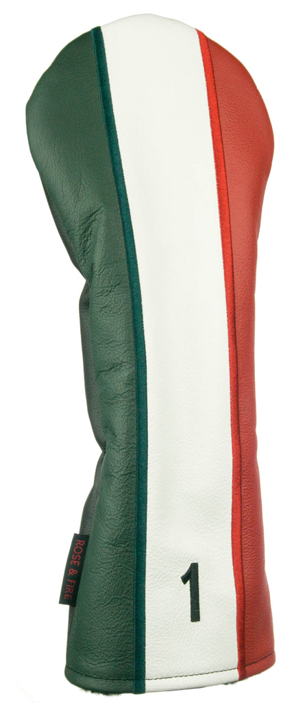 """Italian Flag"" Premium Genuine Leather Headcovers (LIMITED AVAILABILITY PRE-ORDER)"