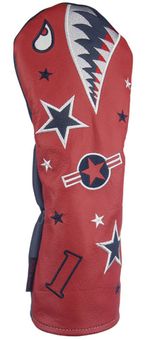 """Bomber/Warhawk"" LIMITED EDITION RWB Premium USA Leather Headcovers (PRE-ORDER)"