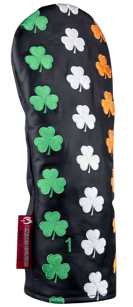 """Luck of the Irish"" Shamrock Premium USA Leather Headcovers (PRE-ORDER)"