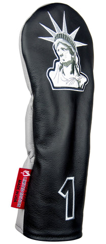 """Lady Liberty"" LIMITED EDITION BLACK AND WHITE Premium USA Leather Headcovers (LIMITED AMOUNT AVAILABLE)(pre-order)"