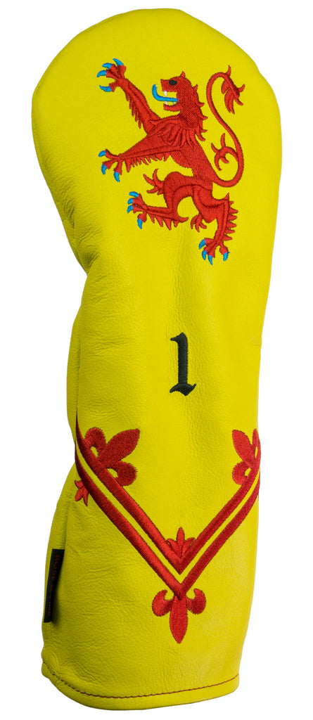 """Lion Rampant"" Premium USA Leather Headcovers (PRE ORDER)"
