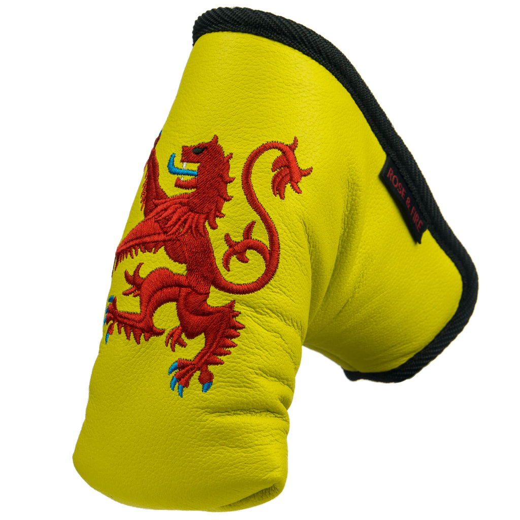 """Lion Rampant"" Premium USA Leather Standard Putter Cover(PRE ORDER)"