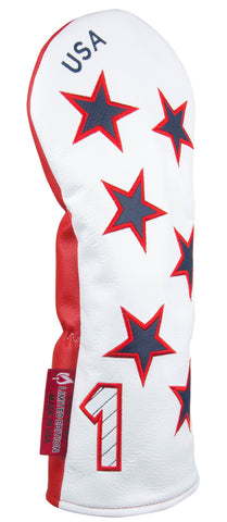 "LIMITED EDITION ""New Glory"" White, Red, and Blue Premium Genuine Leather Headcovers (PRE-ORDER)"