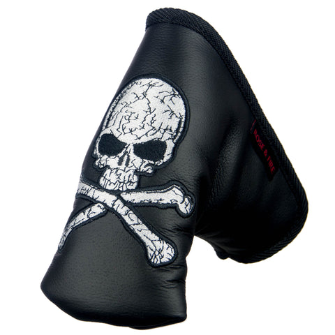 """Skull"" Premium USA Leather Standard Putter Cover"