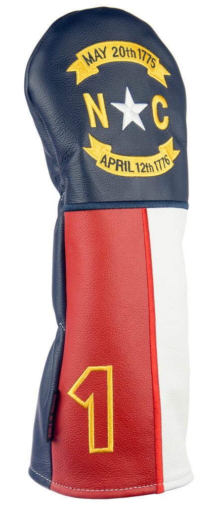 """North Carolina"" The Old North State Premium USA Leather Headcovers(PRE ORDER)"
