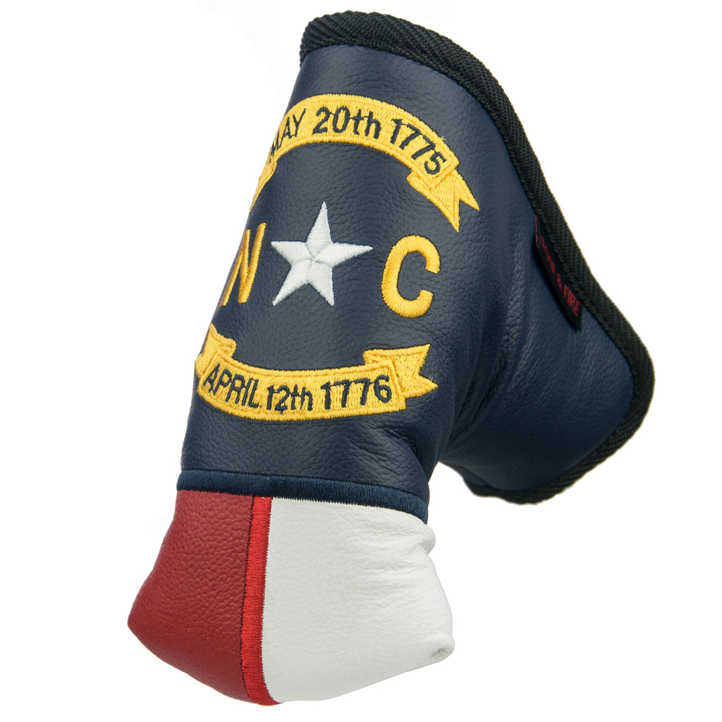 """North Carolina"" The Old North State Premium USA Leather Putter Cover(PRE-ORDER)"