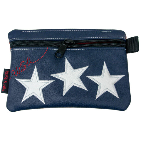 """Old Glory"" Premium Leather Zippered Valuables Pouch (PRE-ORDER)"