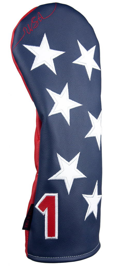 """Old Glory"" USA Stars Premium Genuine Leather Headcovers (PRE ORDER)"