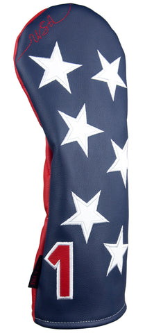 """Old Glory"" USA Stars Premium Genuine Leather Headcovers(PRE-ORDER)"