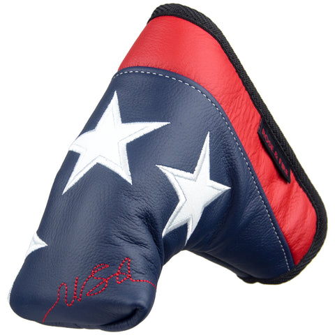 """Old Glory"" USA Stars Premium Genuine Leather Standard Putter Cover(PRE-ORDER)"