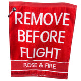 REMOVE BEFORE FLIGHT Golf Towel