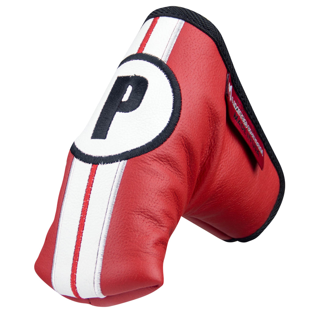 "Limited ""Racing Stripes"" Premium Genuine Red Leather Standard Putter Cover (PRE-ORDER)"