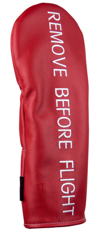"""Remove Before Flight"" Premium Leather Headcovers (IN STOCK LIMITED AVAILABILITY)"