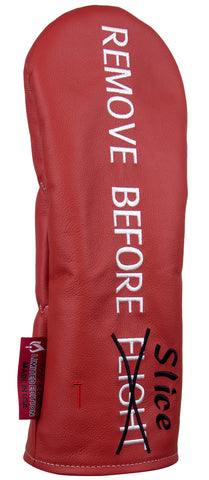 """Remove Before SLICE"" Premium Leather Headcovers (PRE ORDER)"