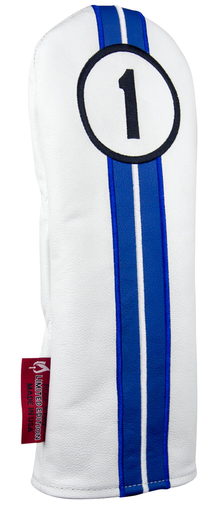"LIMITED EDITION ""Reverse Racing Stripes"" Premium USA Leather Headcovers (PRE-ORDER)"