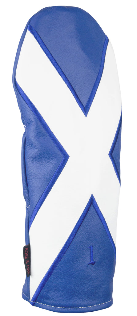 """St. Andrew's Cross"" Scottish flag Premium Leather Headcovers (PRE-ORDER)"