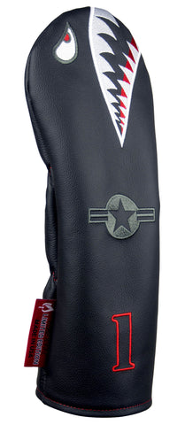 """Bomber/Warhawk Stealth"" LIMITED EDITION Premium USA Leather Headcovers (PRE-ORDER)"