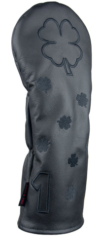 """Stealth"" Dancing Clovers Premium USA Leather Headcovers (LIMITED AVAILABILITY)"