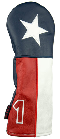 """Lone Star"" Texas Premium USA Leather Headcovers (PRE-ORDER)"