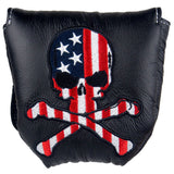 """Skulls and Stripes"" USA Skull Premium USA Leather Headcovers (LIMITED EDITION PRE-ORDER)"