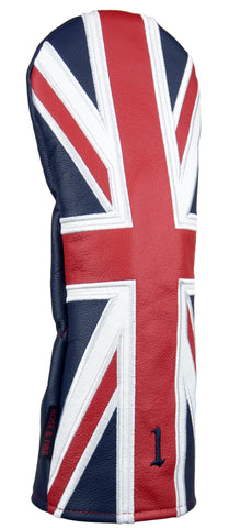 """Union Jack"" UK flag Premium Leather Headcovers (PRE-ORDER)"