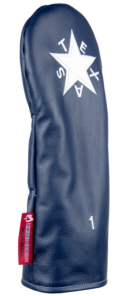 """Texas Zavala Flag"" Premium USA Leather Headcovers (LIMITED EDITION PRE-ORDER)"
