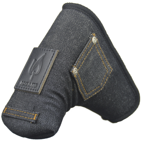 Black Denim Standard Putter Cover (LIMITED RE-RELEASE READY TO SHIP)