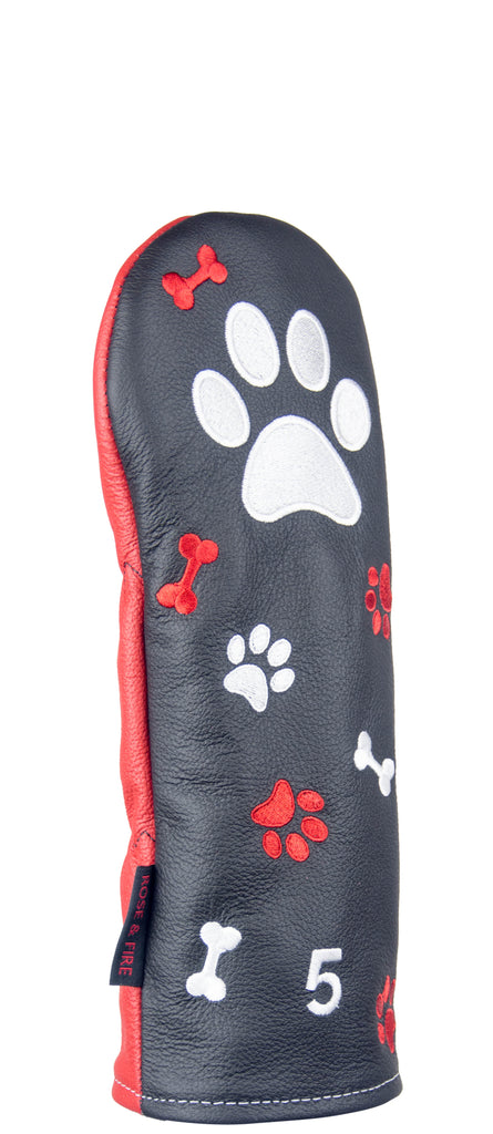 """Pawesome Big Dog"" Premium USA Leather Headcovers (LIMITED AVAILABILITY)"