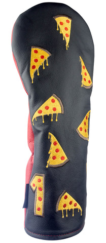 """Cheesy Pizza Party"" Premium USA Leather Headcovers (PRE ORDER)"