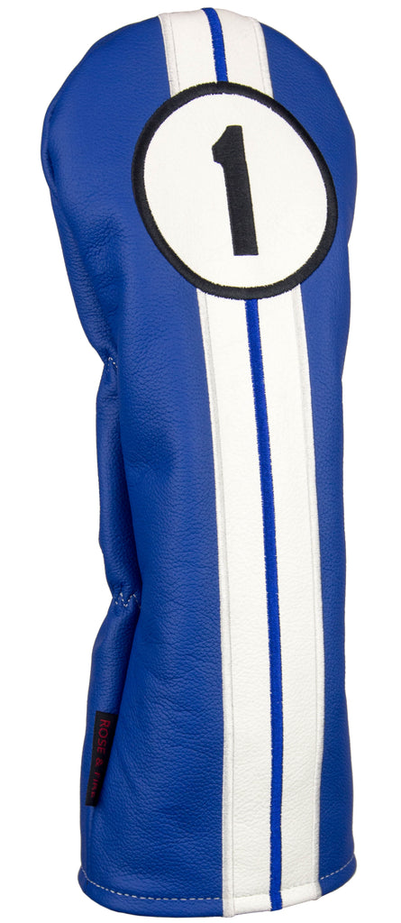 """Racing Stripes"" Premium USA Leather Headcovers(IN STOCK)"